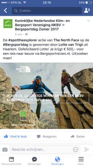 winnaar tegoedbon bergsportreis wanderlotje