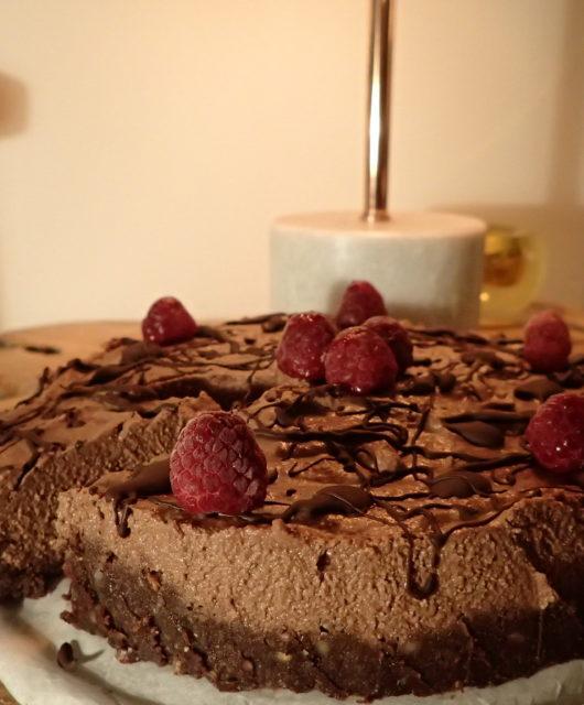 rauwe vegan chocolade cheesecake