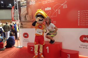 Madrileens sprookje, startnummer halen Expo wanderlotje