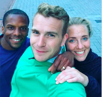 Ook runbuddies- en een goeie selfie (die zijn zeldzaam...) - Jermaine en Wouter!
