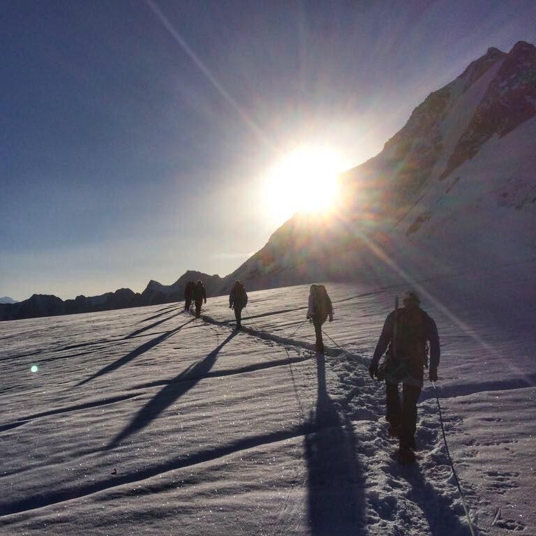 Op weg naar de Wildspitze