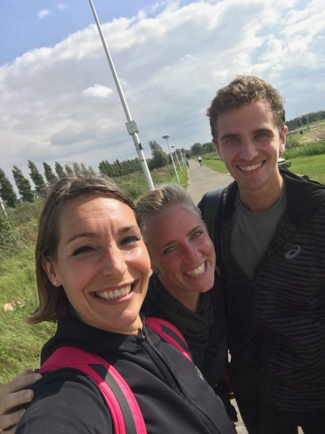 Met Petra en Erik na de duurloop van 32km