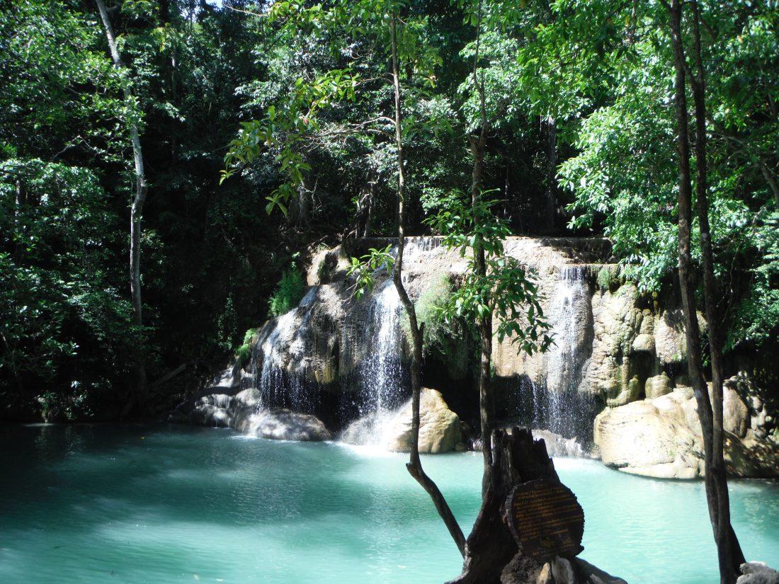 Erawan watervallen -Thailand - level weet ik niet meer..