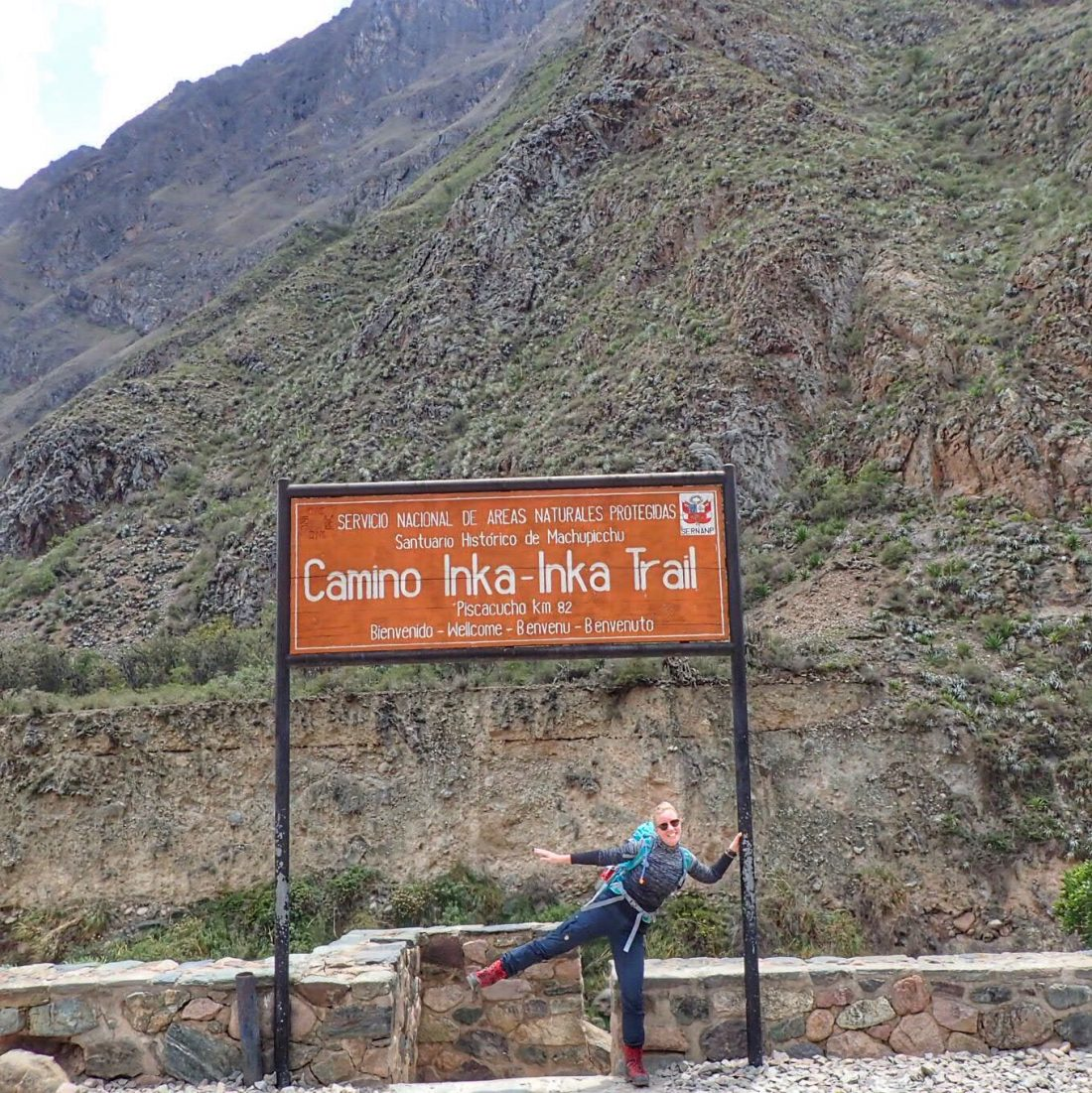 Start of the inca trail - wanderlotje