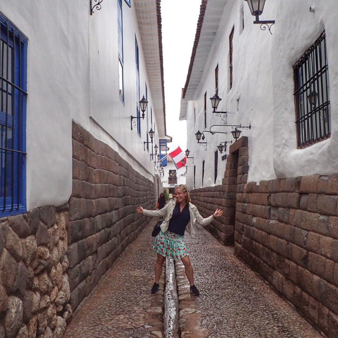 Een straatje ergens in Cusco - wanderlotje