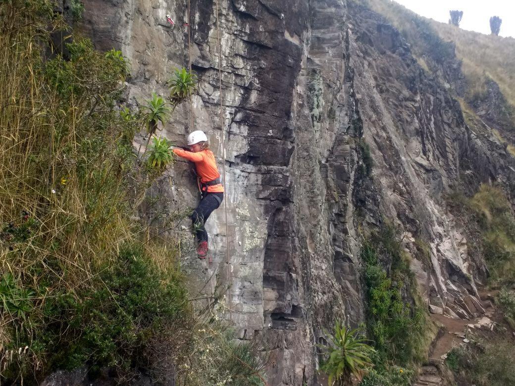 Rotsklimmen bij de Pichincha - wanderlotje