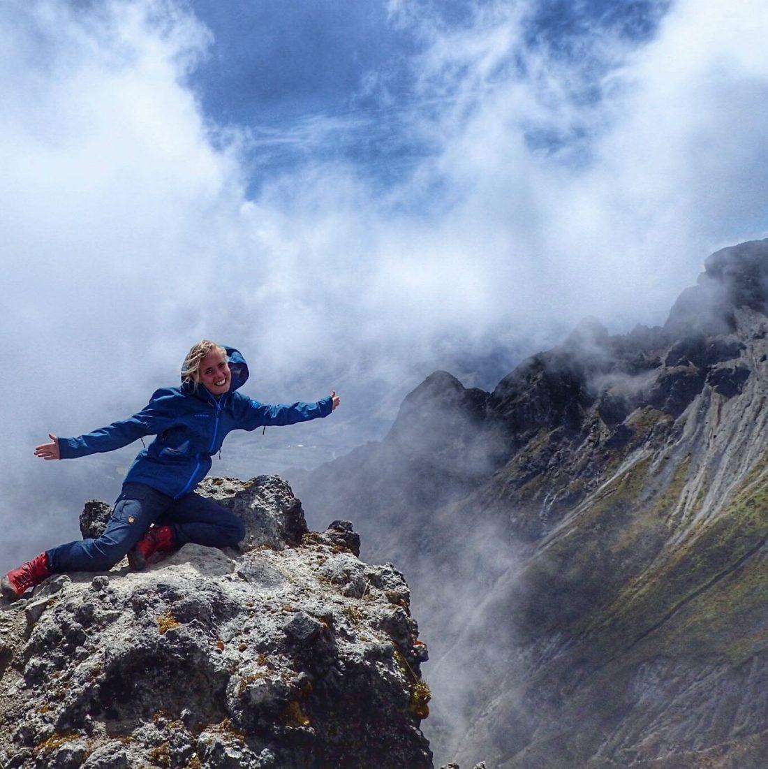 on top of Imbabura - wanderlotje