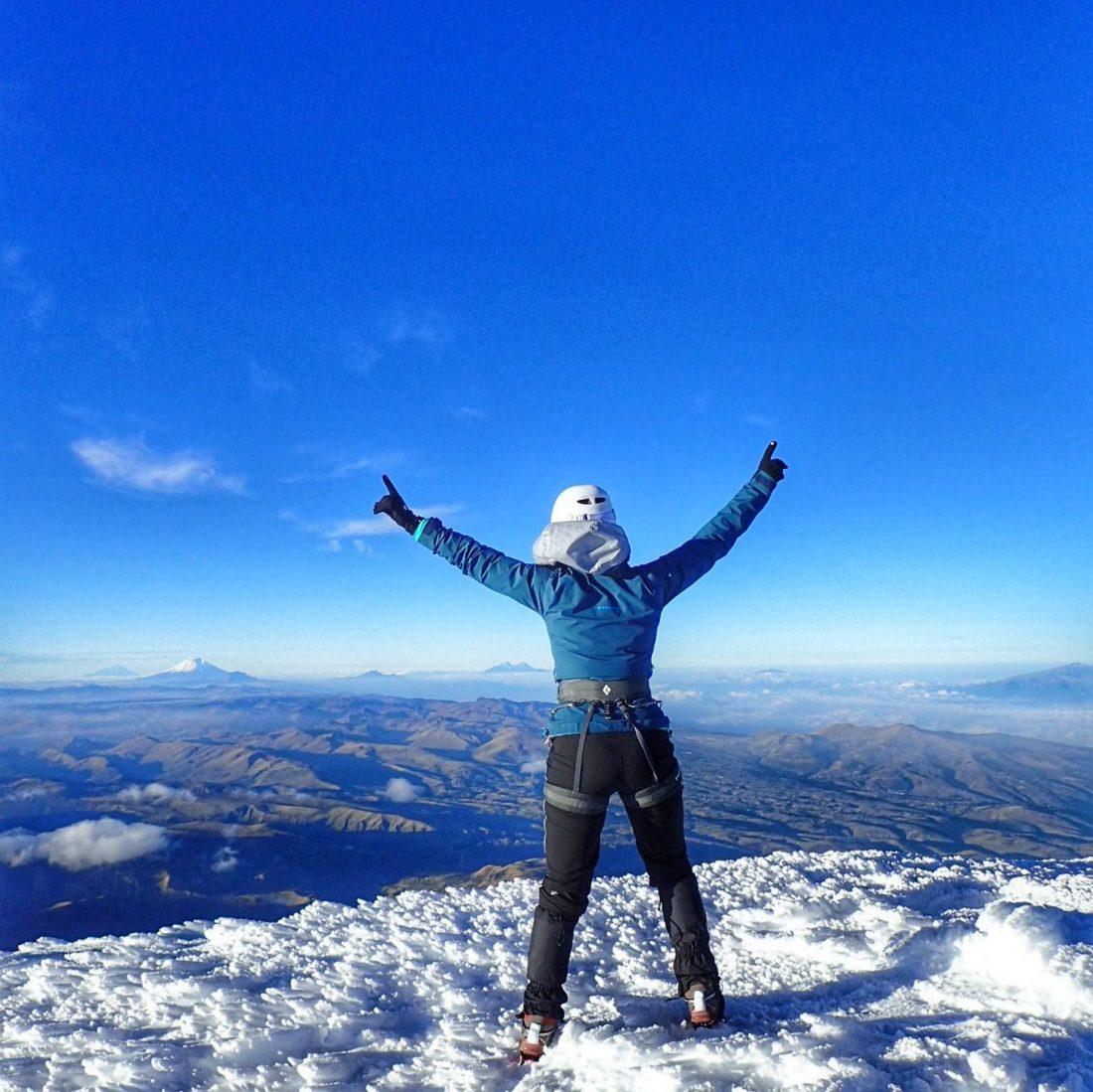 on top of the Cayambe - wanderlotje