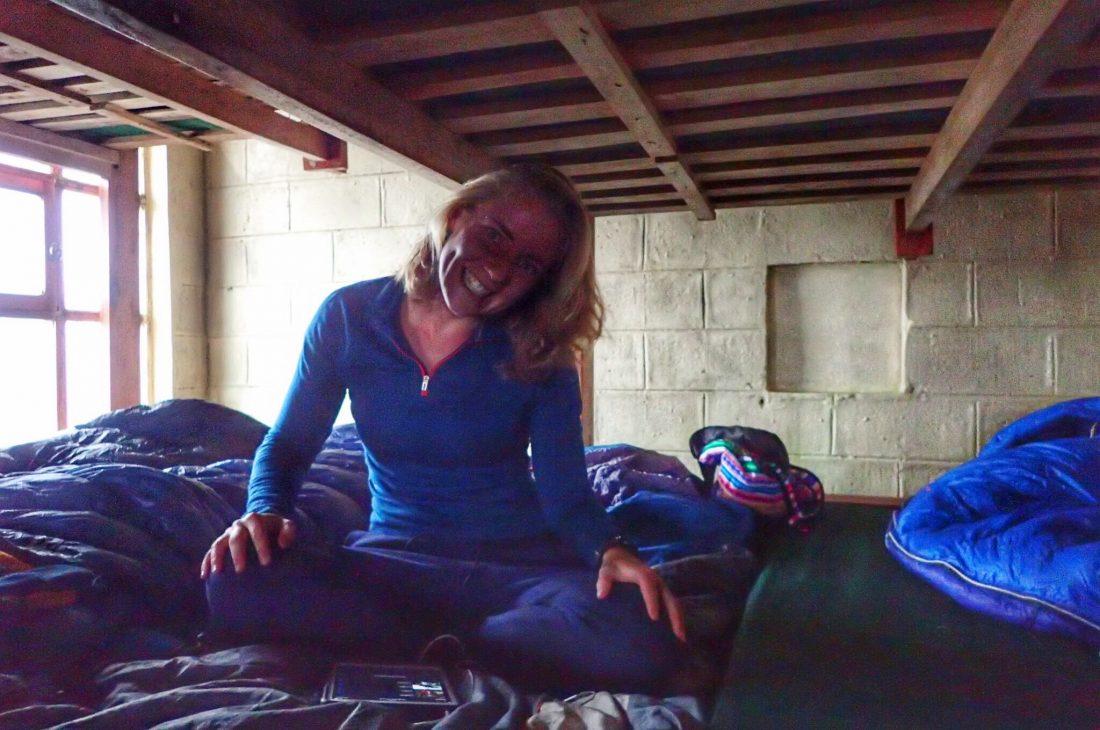 In de berghut Illiniza Norte - berghut leven - echt lievelings- Wanderlotje