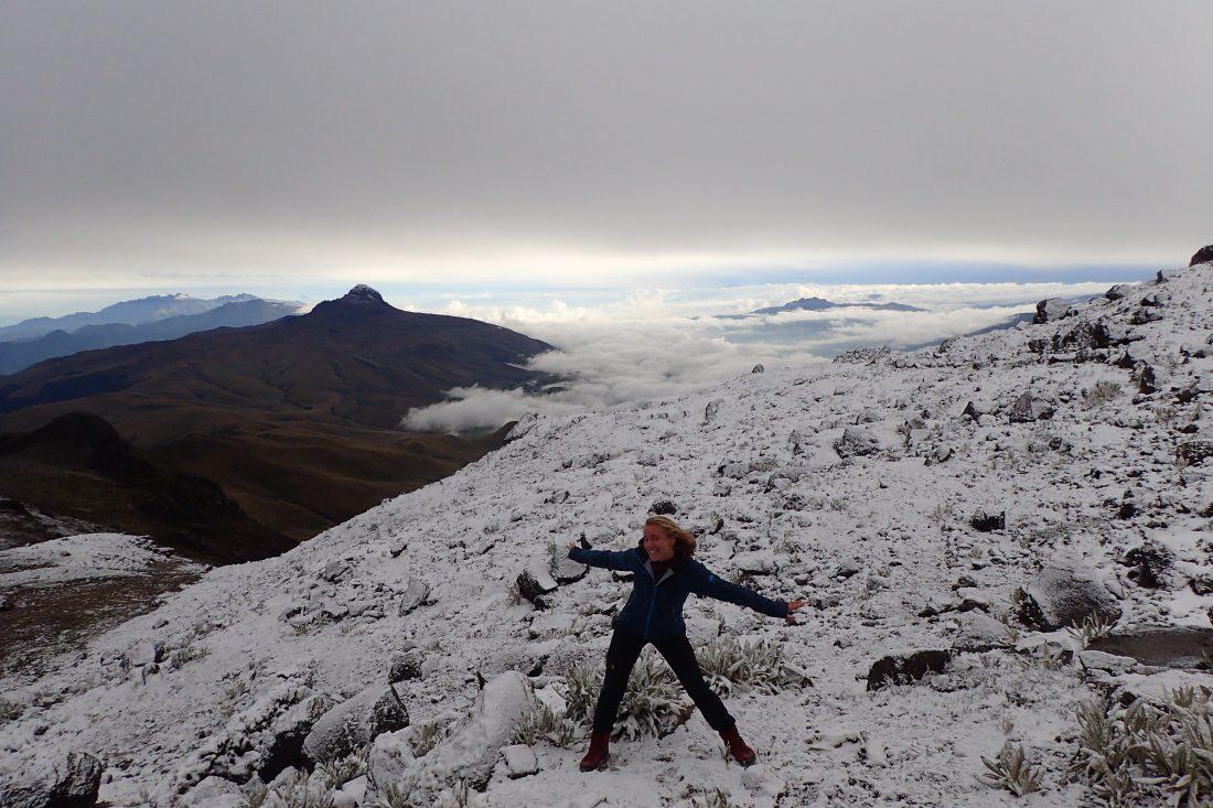Illiniza Norte - waar sneeuw hoort te liggen, op een berg - Wanderlotje