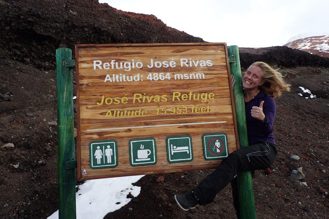Berghut cotopaxi -Alles helemaal toppie! Zelfs een saturatie van 98% en een hartslag van 55 op 4800 meter hoogte, niks te klagen dus - Wanderlotje