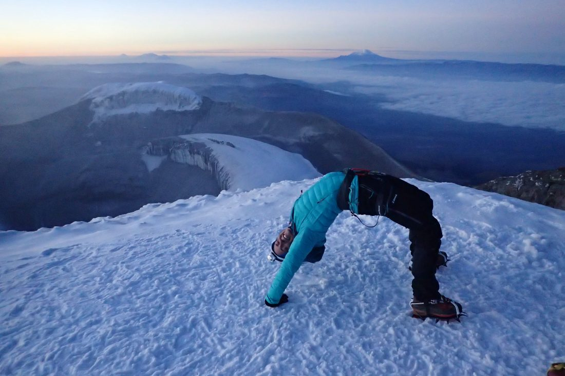 On top of the Cotopaxi - Wanderlotje