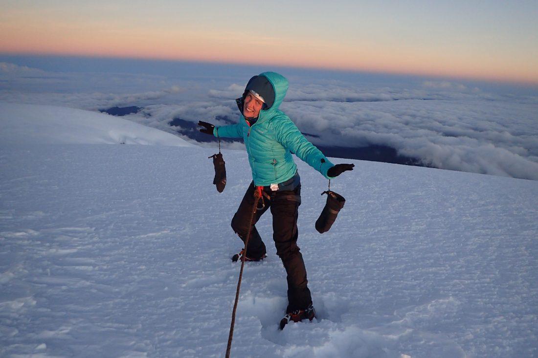 Whymper top - blij ei - in de wolken, letterlijk! - Chimborazo - Wanderlotje