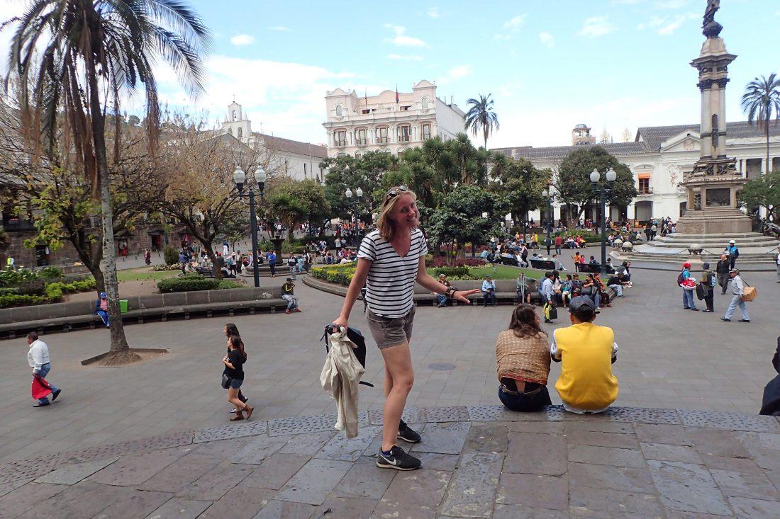 Maar ook voor pleintjes als deze - Quito - Wanderlotje