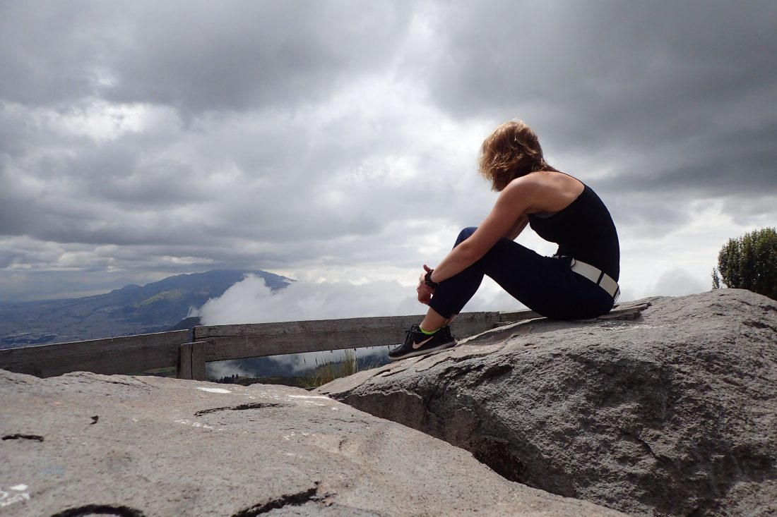 Sitting on a rock.. Thinking about life - Pichincha