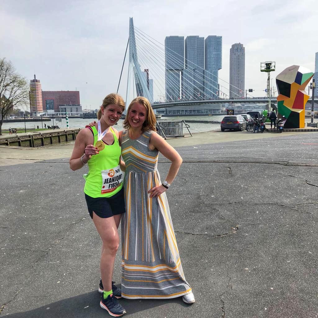 Respect voor deze topper Jeanique - Marathon Rotterdam - de mooiste
