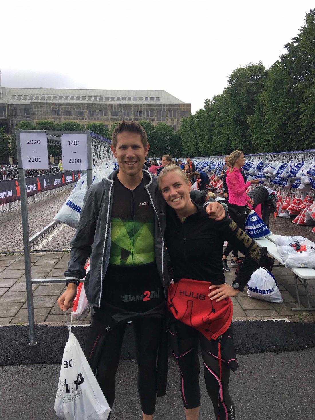Halve Ironman - voor de start met Tijn - Wanderlotje