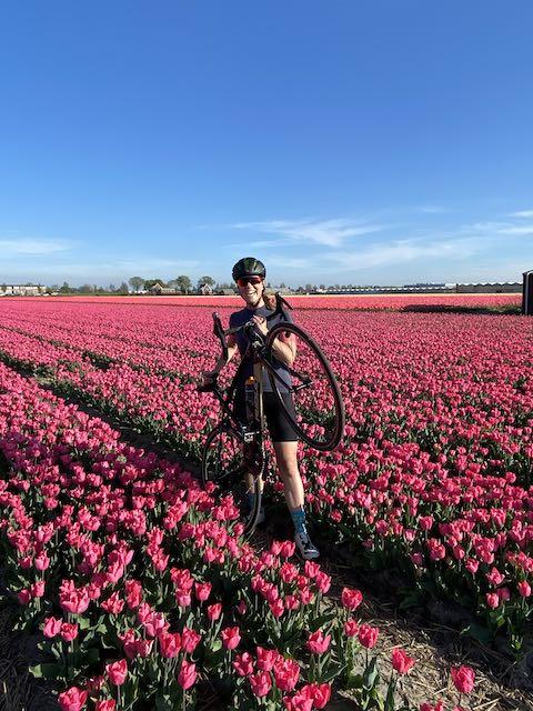 Nederland op zijn mooist - fietsen en tulpen