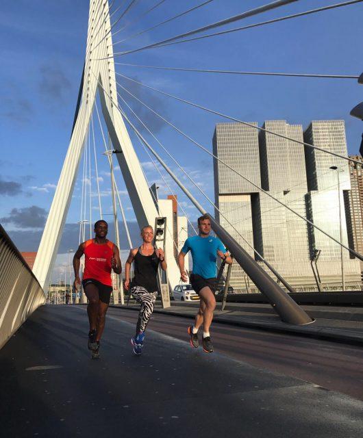 Running zweetdate Erasmusbrug Wanderlotje