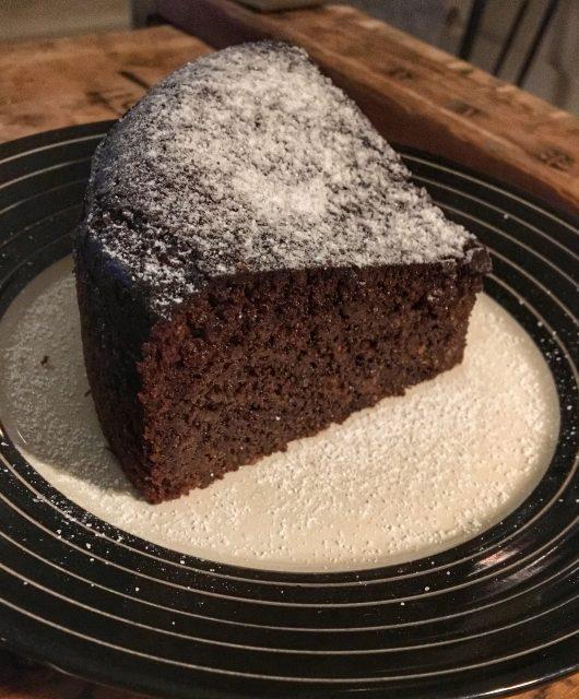 Glutenvrije lekkere chocolade taart