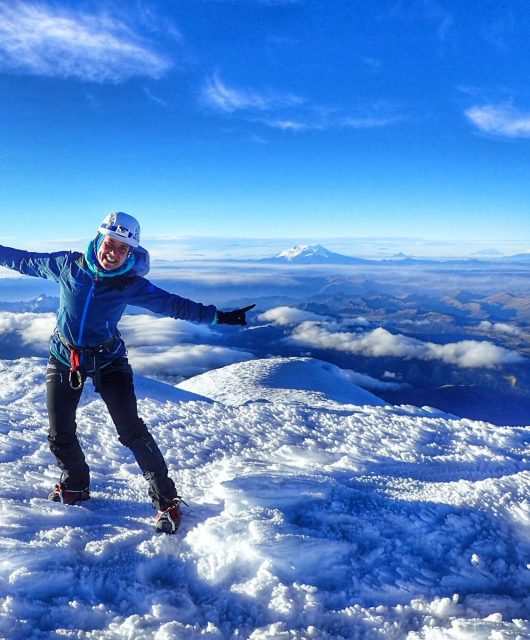 on top of the cayambe