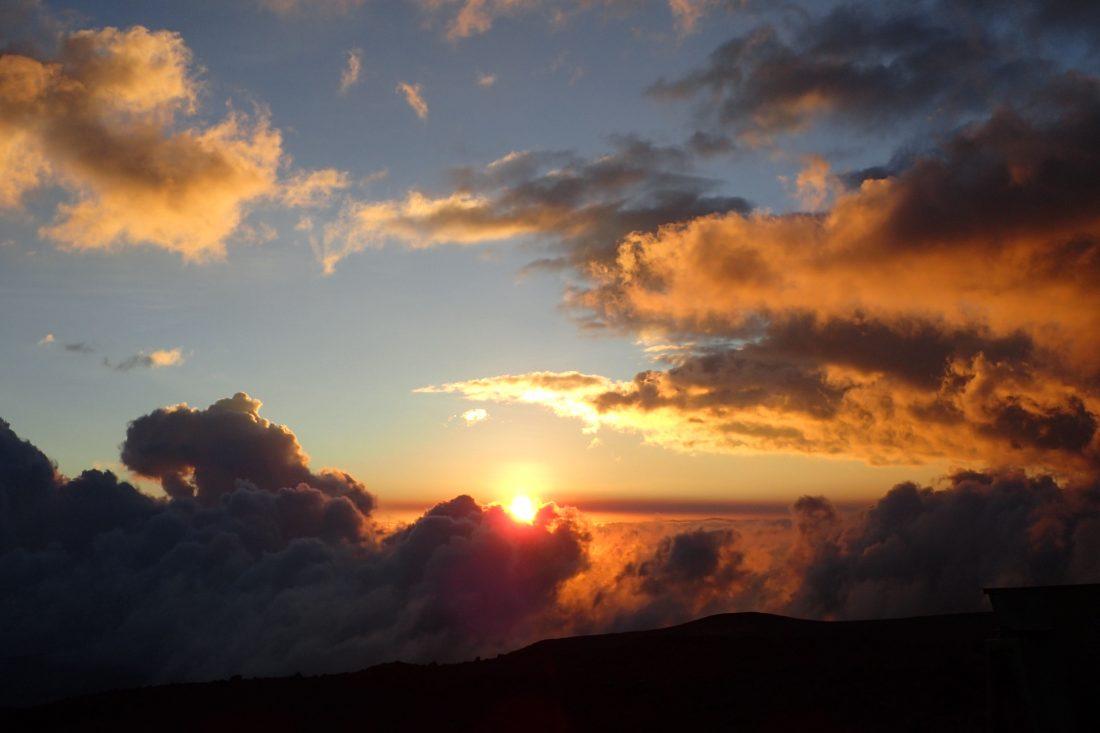 Liefde voor de zonsondergang! vanaf de berghut- Chimborazo - Wanderlotje