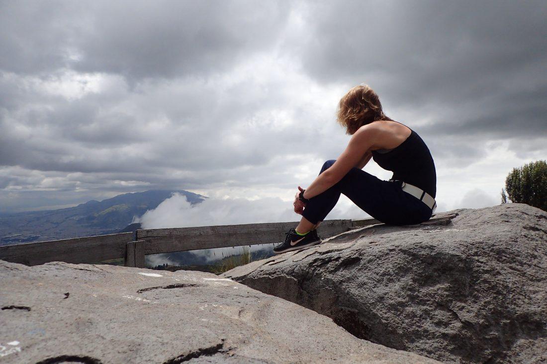 Sitting on a rock.. Thinking about life - Pichincha